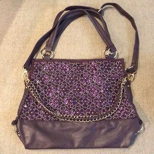 Handbags - Purple Purse-Tote with Shoulder Strap